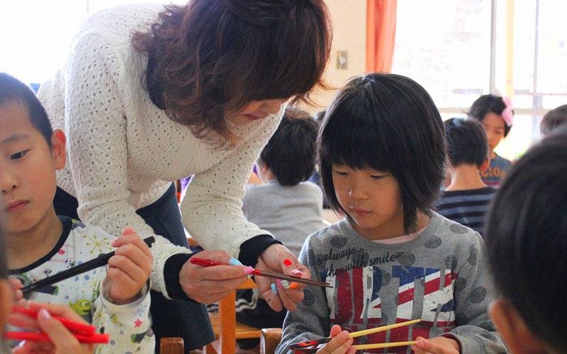 箸の持ち方教室