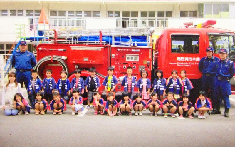 幼年消防クラブ結成式